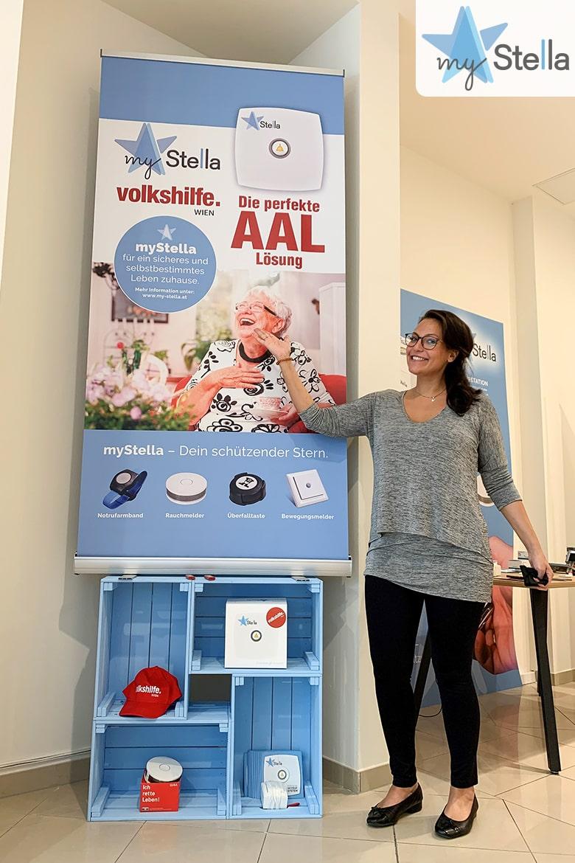 Christina Neuwerth myStella im Pop Up Store der Volkshilfe Wien, SCN