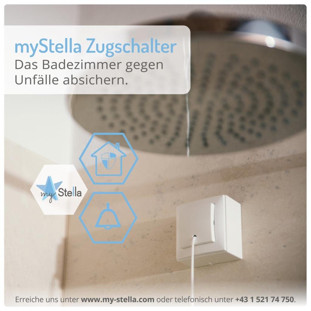 myStella Zugschalter - Das Badezimmer gegen Unfälle absichern
